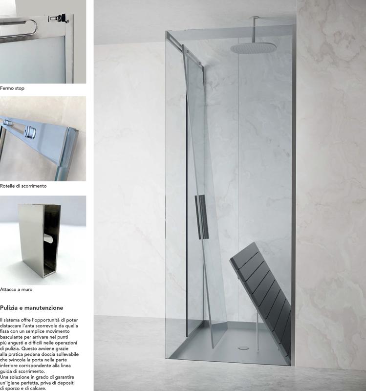 Sistema doccia Scorrevole integrato Silverplat