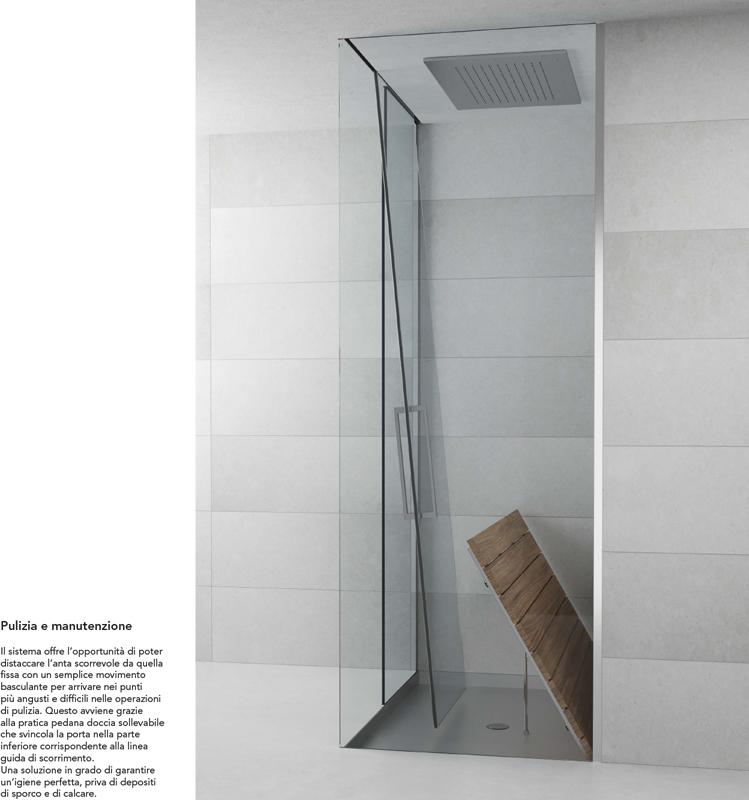 Sistema doccia Scorrevole integrato tutta altezza Silverplat