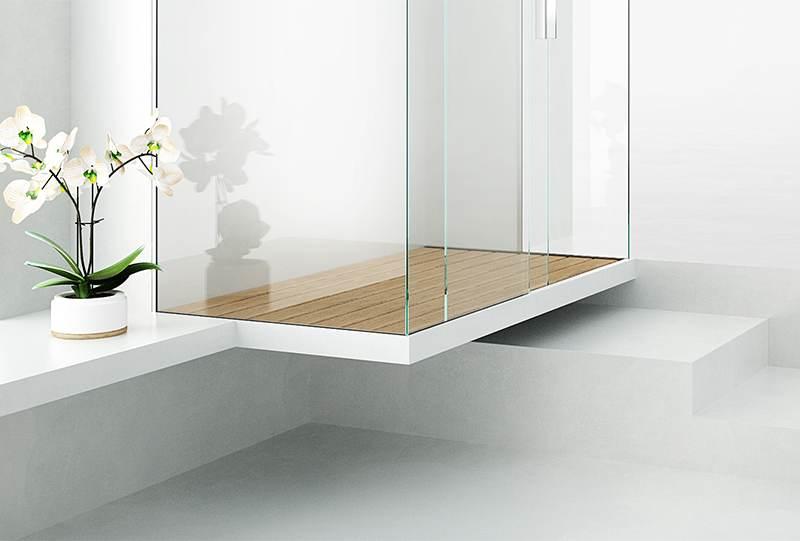 P fly piatto doccia sospeso dal pavimento bagno di design