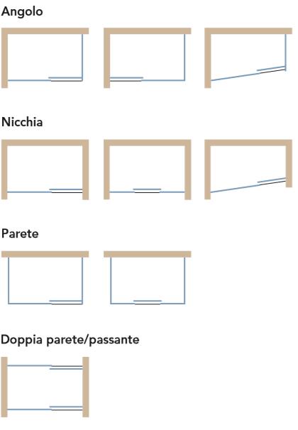 Composizioni Box doccia Scorrevole Filozero Compact