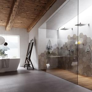Ambiente bagno esagoni mosaico