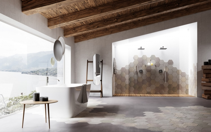 ambiente di lusso particolare bagno