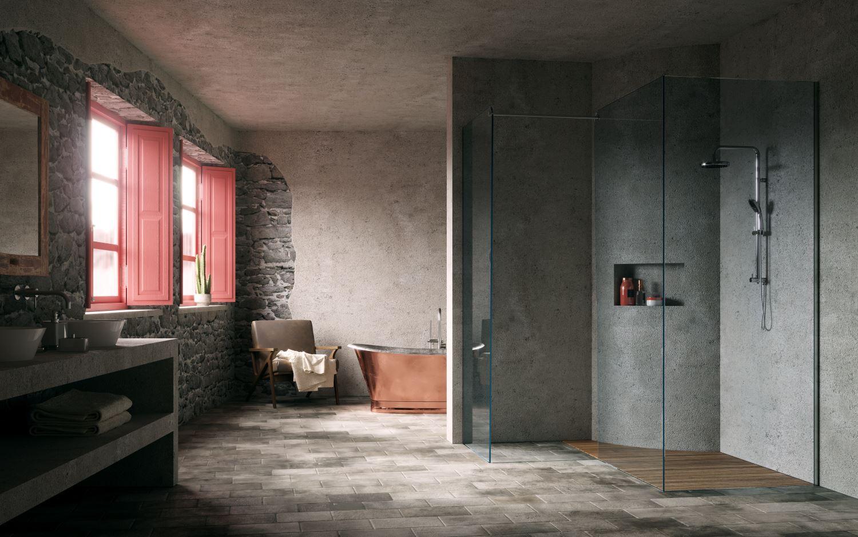 bagno rustico di lusso silverplat