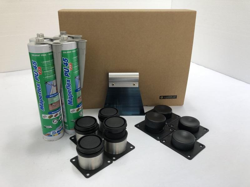 kit di montaggio piatto doccia Silverplat